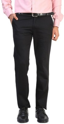 VDE Slim Fit, Regular Fit Men,s Black Trousers