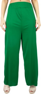 C&S Shopping Gallery Regular Fit Women's Green Trousers