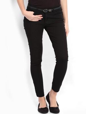 Tokyo Talkies Skinny Fit Women's Black Trousers