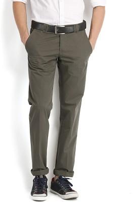Fabindia Regular Fit Men's Green Trousers