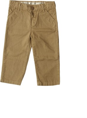 Wow Mom Regular Fit Baby Boy,s Brown Trousers