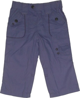 Red Rose Regular Fit Boy's Purple Trousers