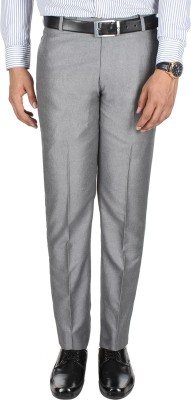 Galloway Regular Fit Men's Silver Trousers