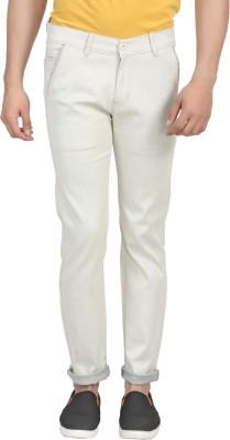 ELVIN Slim Fit Men's Grey Trousers