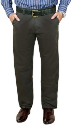 Zrestha Slim Fit Men's Green Trousers