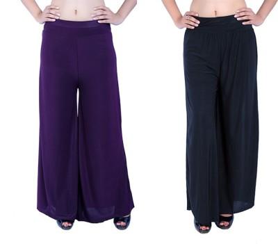 Ajaero Regular Fit Women's Purple Trousers