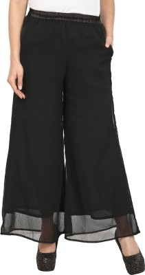 Le Luxe Regular Fit Women's Black Trousers