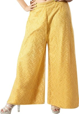 TheShoppingDiary Regular Fit Women's Yellow Trousers