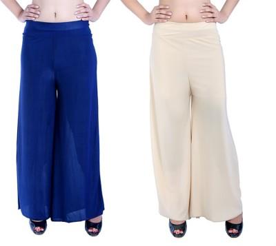Ajaero Regular Fit Women's Dark Blue, Gold Trousers