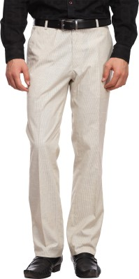 Luxurazi Slim Fit Men,s Linen Beige Trousers