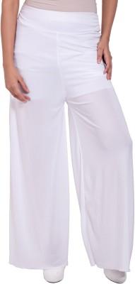 diva boutique Regular Fit Women's White Trousers