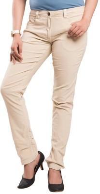 Begonia Regular Fit Women's Beige Trousers
