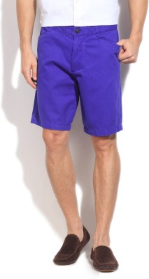 Kenneth Cole Reaction Solid Men's Blue Basic Shorts