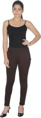 Honeybum Skinny Fit Women's Brown Trousers