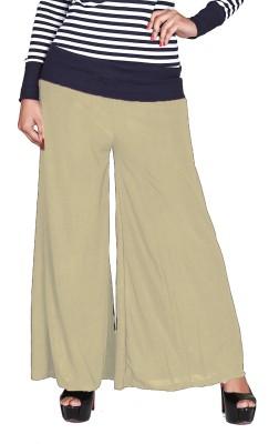 Jugniji Slim Fit Women's Beige Trousers