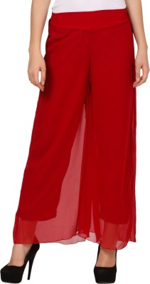 Pretty Angel Regular Fit Women's Maroon Trousers