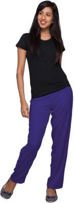 Go Colors Regular Fit Women's Blue Trousers