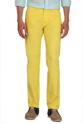 Allen Solly Slim Fit Men,s Yellow Trousers