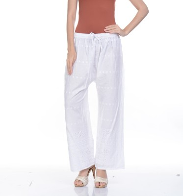Awesome Regular Fit Women's White Trousers