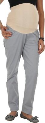 Kriti Western Maternity Slim Fit Women's Grey Trousers