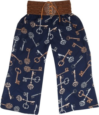 Hunny Bunny Regular Fit Girl's Blue Trousers