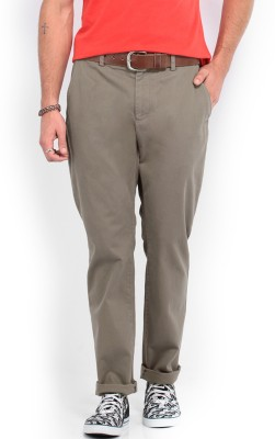 French Connection Regular Fit Men's Brown Trousers