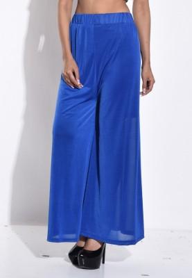Sohniye Regular Fit Women's Blue Trousers