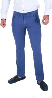 Monarch Regular Fit Men's Blue Trousers