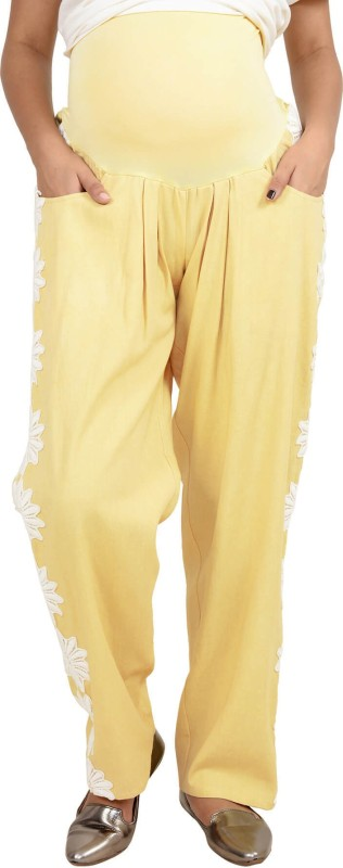 9teen Again Regular Fit Women's Yellow Trousers