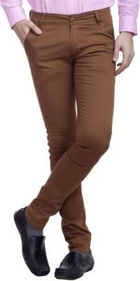 Nimegh Slim Fit Men's Brown Trousers