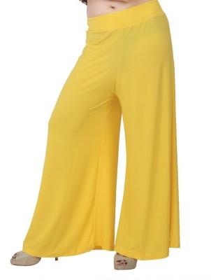 Fashionkala Regular Fit Women's Yellow Trousers