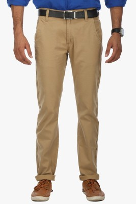 Wear Your Mind Slim Fit Men's Beige Trousers