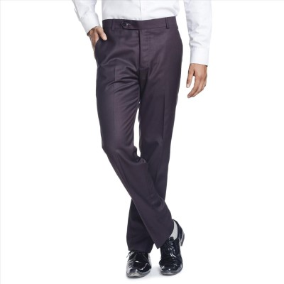 Adam In Style Regular Fit Men's Purple Trousers