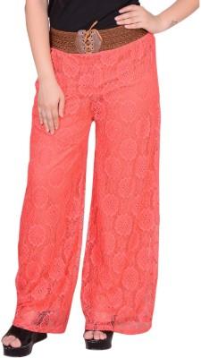 SWEEKASH Regular Fit Women's Orange Trousers