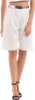Shuffle Slim Fit Women's White Trousers