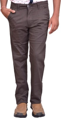 British Terminal Slim Fit Mens Brown Trousers