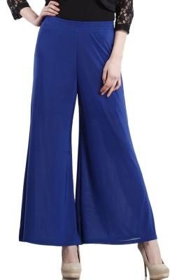 Peptrends Regular Fit Women's Blue Trousers