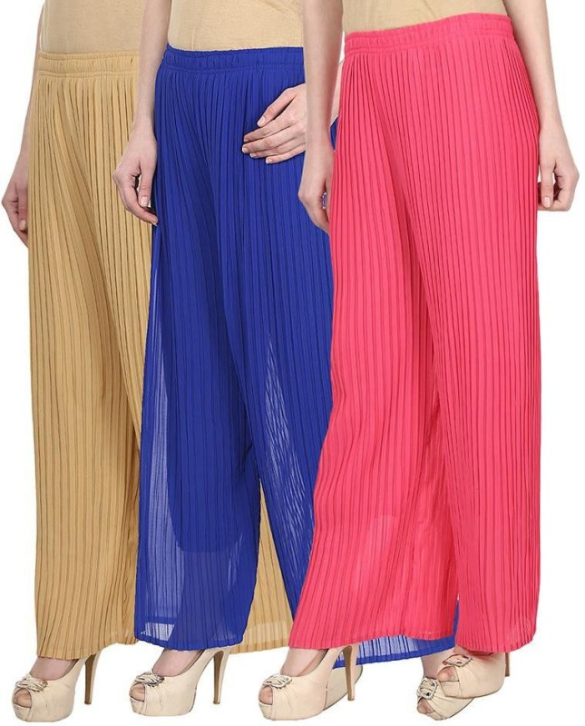 SYS Regular Fit Women's Beige, Blue, Pink Trousers