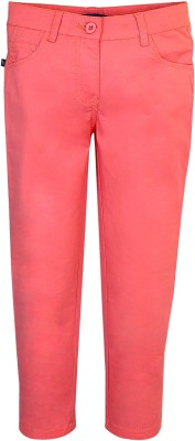 Bells and Whistles Regular Fit Girl's Pink Trousers