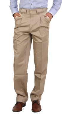 Bottoms Regular Fit Men's Gold Trousers