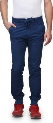 Wear Your Mind Slim Fit Men's Dark Blue Trousers