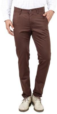 Uber Urban Slim Fit Men's Brown Trousers