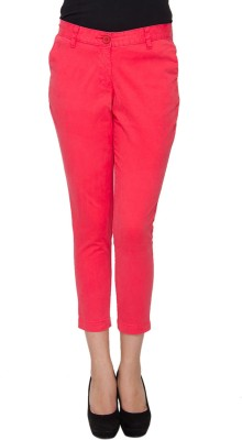 Amari West By INMARK Regular Fit Women's Red Trousers