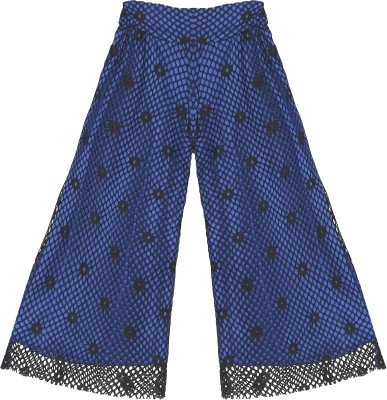 Kittybitty Regular Fit Girl's Blue Trousers