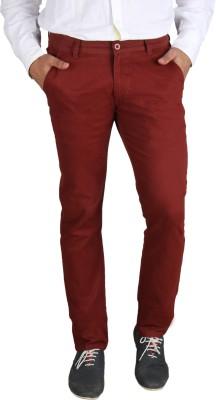Platinum Studio Slim Fit Men's Red Trousers