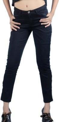 Klouden Skinny Fit Women's Black Trousers