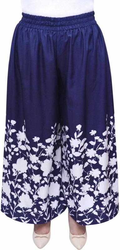 FabnFab Regular Fit Women's Blue Trousers