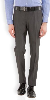 Black Coffee Regular Fit Men's Grey Trousers