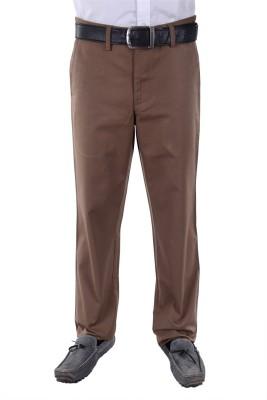FRANK JEFFERSON Regular Fit Men's Brown Trousers