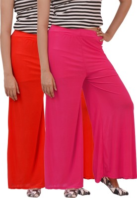 Ace Regular Fit Women's Pink, Red Trousers